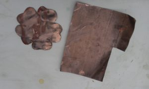 what copper sheet looks like after being exposed one day to open air