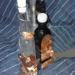 vinegar and liquor handmade copper decorated glassbottle