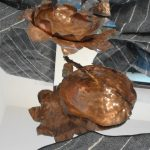 handmade copper waterlily candle holder